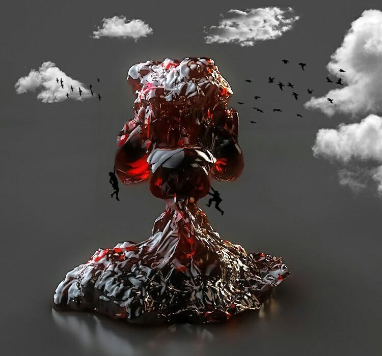 3D-Abstract-Mountain-Explosion
