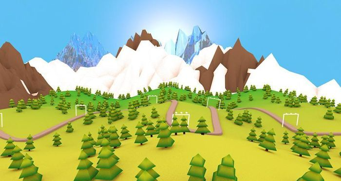 Low-Poly-Mountain