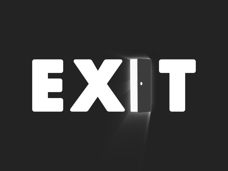 Animated-Exit-Logo