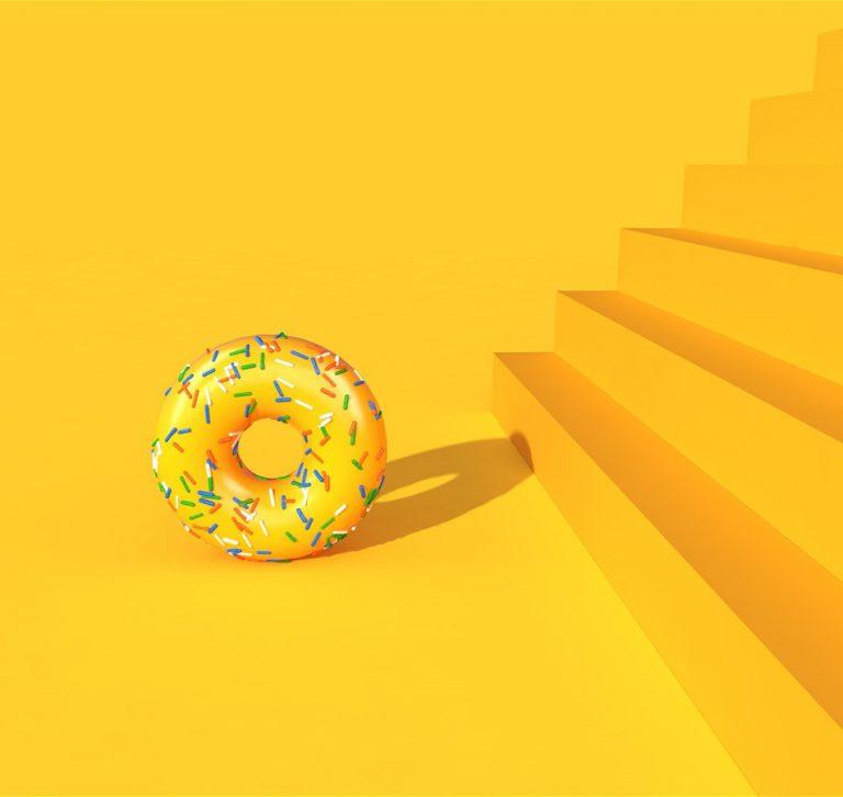 Falling-Doughnuts