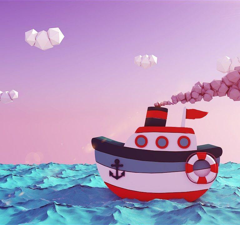 Ship-in-the-ocean