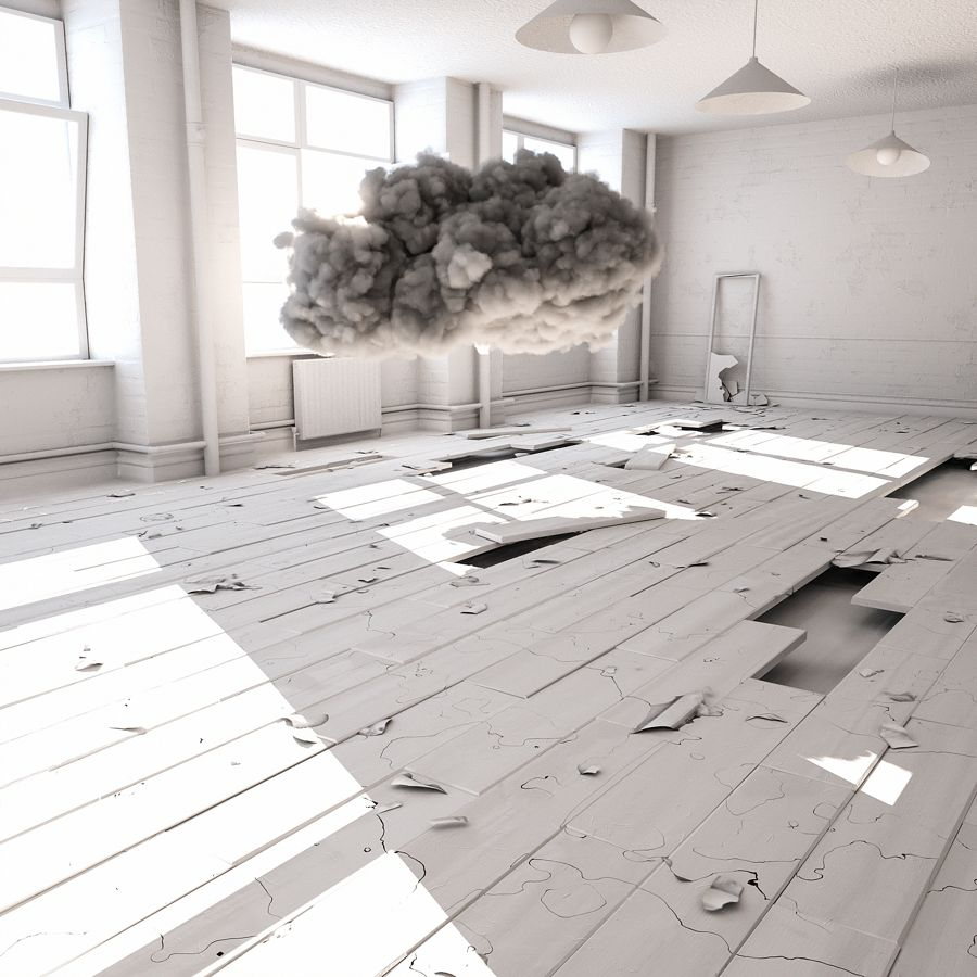 Abandoned-House-Clay-Render
